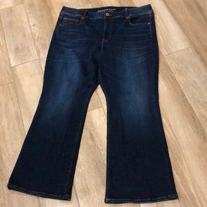 American Eagle Kick Boot Jeans Sz 22